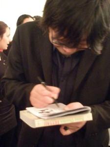 Hosoda-san signing autographs